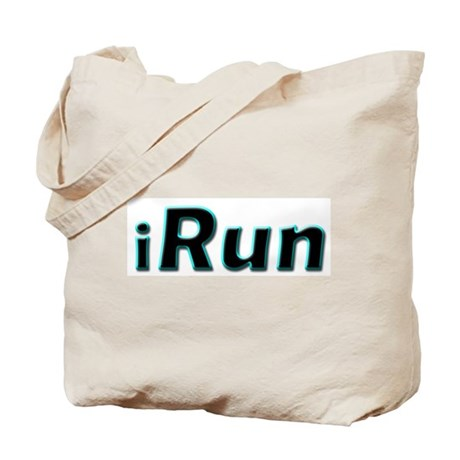 iRun, aqua trim Tote Bag