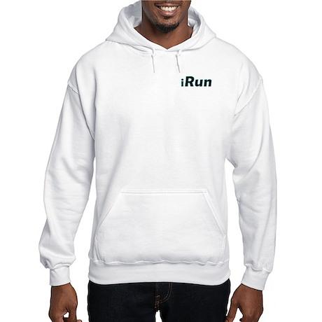 iRun, aqua trim (front & back) Hooded Sweatshirt