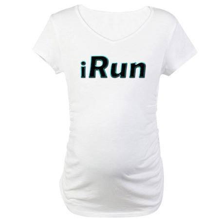 iRun, aqua trim Maternity T-Shirt