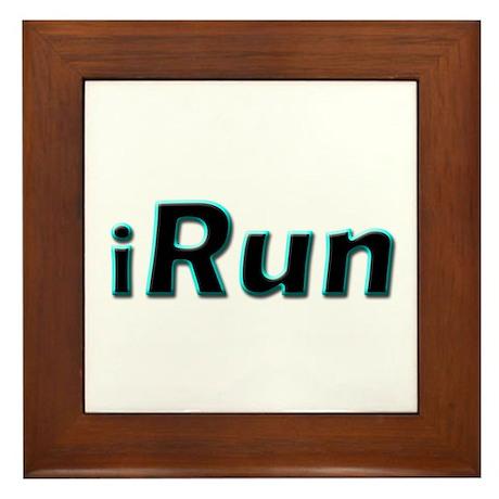 iRun, aqua trim Framed Tile