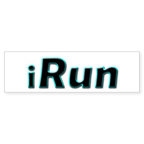iRun, aqua trim Bumper Sticker