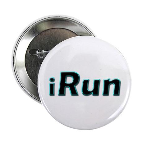 """iRun, aqua trim 2.25"""" Button (10 pack)"""