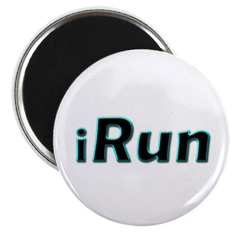 """iRun, aqua trim 2.25"""" Magnet (100 pack)"""
