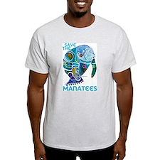 Manatees Ash Grey T-Shirt