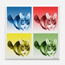 Chinchilla Pop Tile Coaster