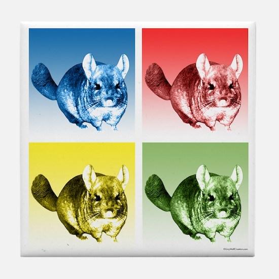 Chinchilla Pop Tile Coaster
