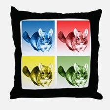 Chinchilla Pop Throw Pillow