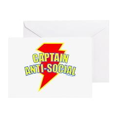 CAPTAIN ANTI-SOCIAL Greeting Card