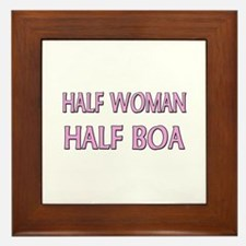 Half Woman Half Boa Framed Tile