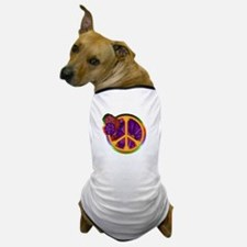 Flower Power Peace Sign Dog T-Shirt