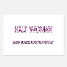 Half Woman Half Black-Footed Ferret Postcards (Pac