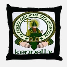 Kennelly Clan Motto Throw Pillow