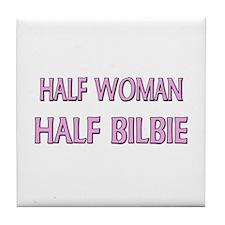 Half Woman Half Bilbie Tile Coaster