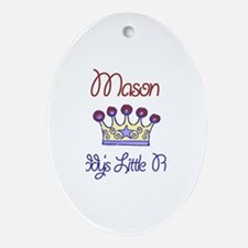 Mason - Daddy's Prince Oval Ornament