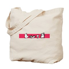 laughing dogs Tote Bag