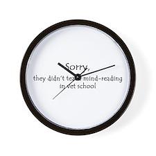 mind-reading Wall Clock