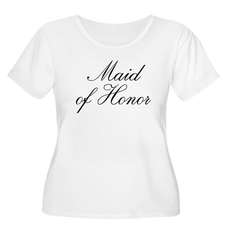 Maid of Honor Women's Plus Size Scoop Neck T-Shirt
