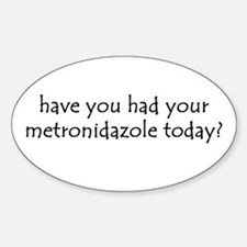 metronidazole Oval Decal