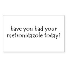 metronidazole Rectangle Decal