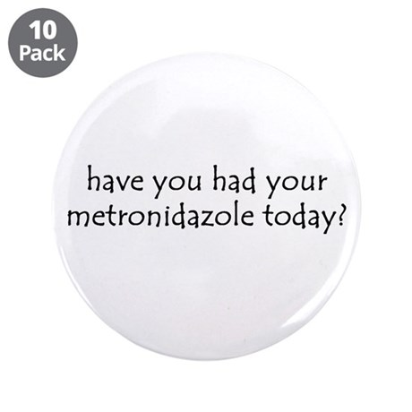 "metronidazole 3.5"" Button (10 pack)"
