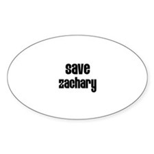 Save Zachary Oval Decal