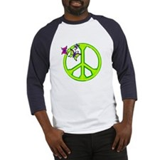 Butterfly Peace Sign Baseball Jersey