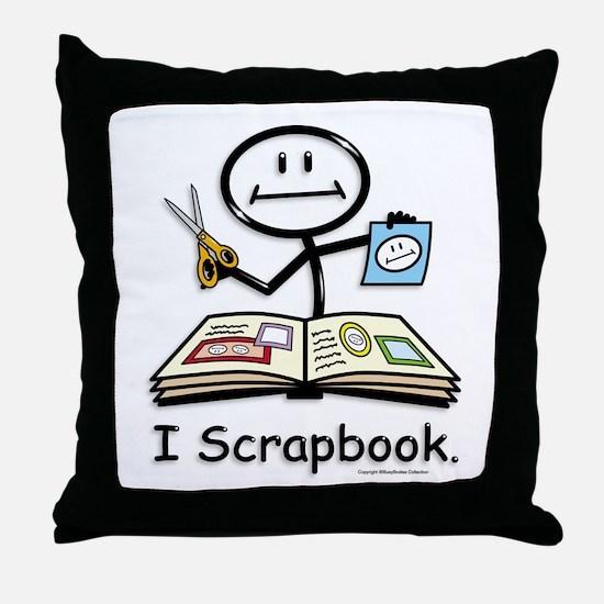 BusyBodies Scrapbooking Throw Pillow
