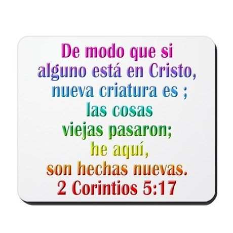 2 Corinthians 5:17 Spanish Mousepad