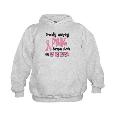 Proudly Wearing Pink 2 (Nana) Kids Hoodie