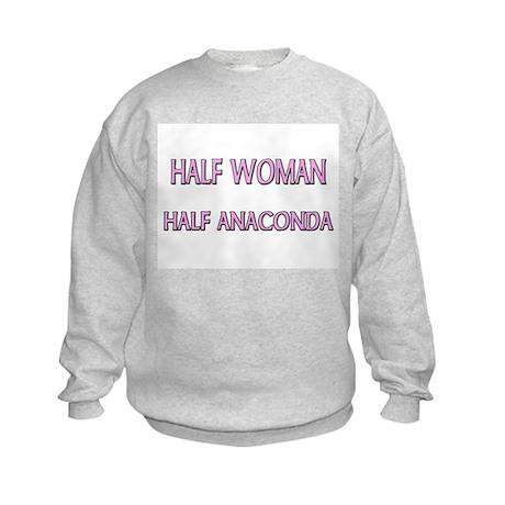 Half Woman Half Anaconda Kids Sweatshirt