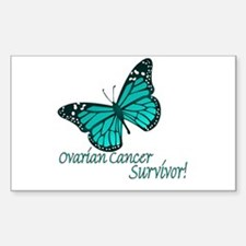 Ovarian Cancer Survivor Rectangle Stickers