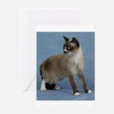 Cute Snowshoe Greeting Card