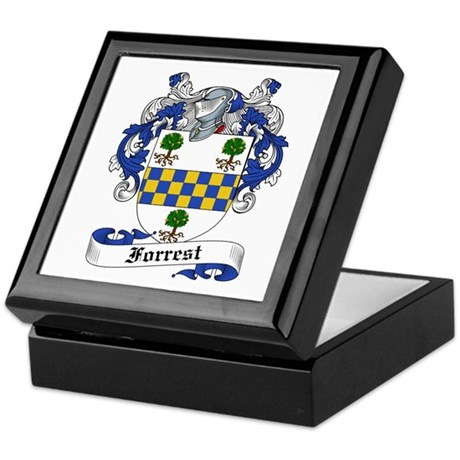 Forrest Family Crest Keepsake Box