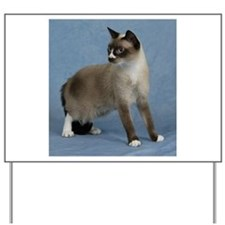 Funny Snowshoe cat Yard Sign