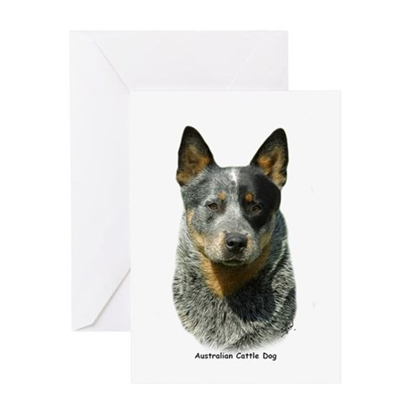 Australian Cattle Dog 9F061D-04 Greeting Card