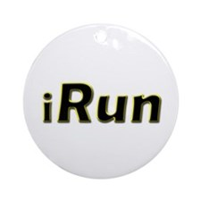 iRun, yellow trim Ornament (Round)