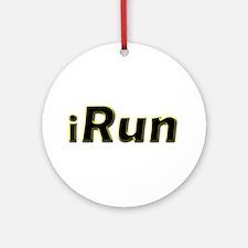 iRun, yellow trim Ornament (Round)
