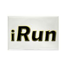 iRun, yellow trim Rectangle Magnet