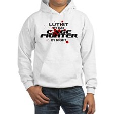 Lutist Cage Fighter by Night Hoodie