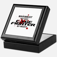 Marimbist Cage Fighter by Night Keepsake Box