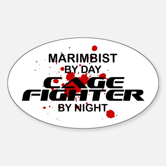 Marimbist Cage Fighter by Night Oval Decal