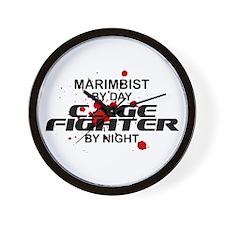 Marimbist Cage Fighter by Night Wall Clock