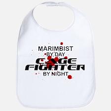 Marimbist Cage Fighter by Night Bib