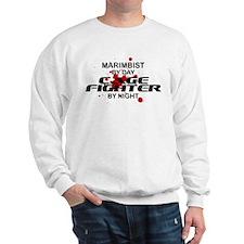 Marimbist Cage Fighter by Night Sweatshirt