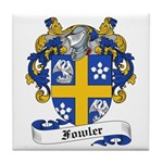 Fowler Family Crest Tile Coaster