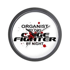 Organist Cage Fighter by Night Wall Clock