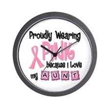 Proudly Wearing Pink 2 (Aunt) Wall Clock