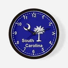 South Carolina Palmetto and Crescent Wall Clock
