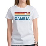 Retro Palm Tree Zambia Women's T-Shirt