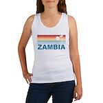 Retro Palm Tree Zambia Women's Tank Top
